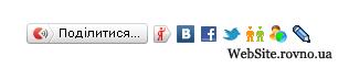 Блок «Поділитися» від Яндекс