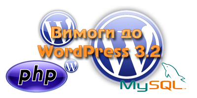 Вимоги до WordPress 3.2