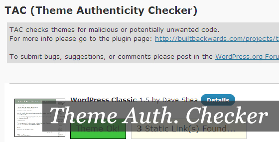 Плагін Theme Authenticity Checker - Шукаємо небажані посилання