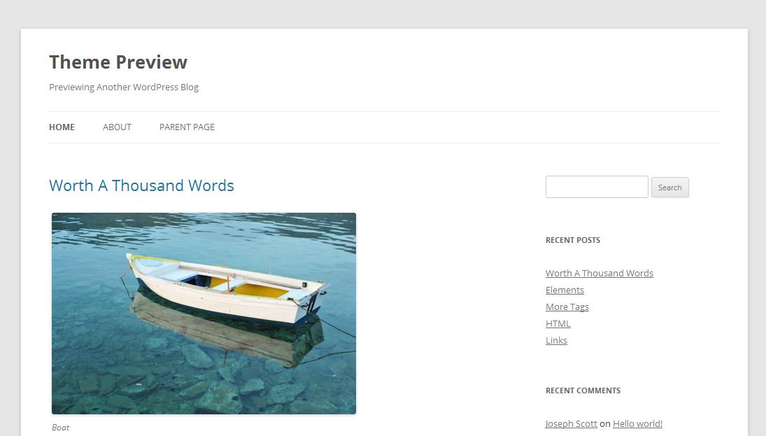 WordPress 3.5: Нова тема Twenty Twelve